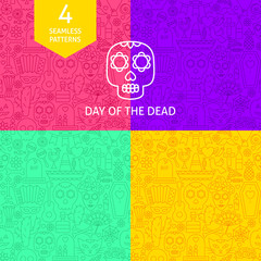 Line Day of the Dead Patterns