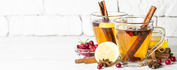 Printed roller blinds Tea Autumn or winter hot tea with fruit, berries and spices.
