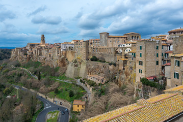 Panoramic view of Pitigliano, Tuscany, Italy