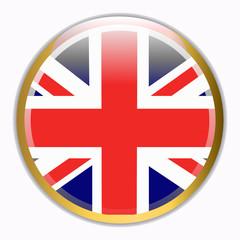 Round banner with flag of England.