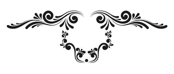Decorative monograms and calligraphic borders