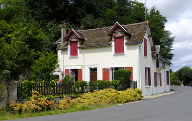 Old beautiful house in Magnac-Bourg. Magnac-Bourg is a commune in the Nouvelle-Aquitaine region in west-central France