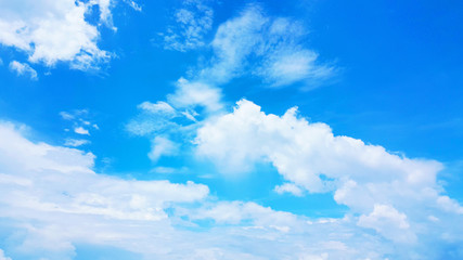 Blue sky with white clouds. nature background