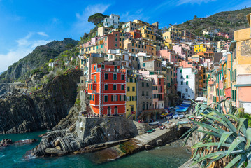 Riomaggiore, colorful village of Cinque Terre, Italy