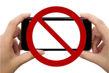 Fotografieren und Handys verboten