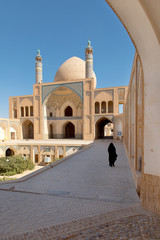 Kashan Mosque in central Iran city Agha Bozorg Mosque