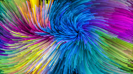 Vision of Colorful Paint
