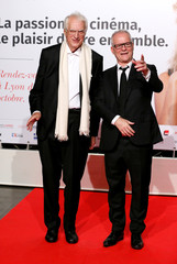 Fremaux and Tavernier attend the opening of the Lumiere 2018 Grand Lyon Film Festival in Lyon