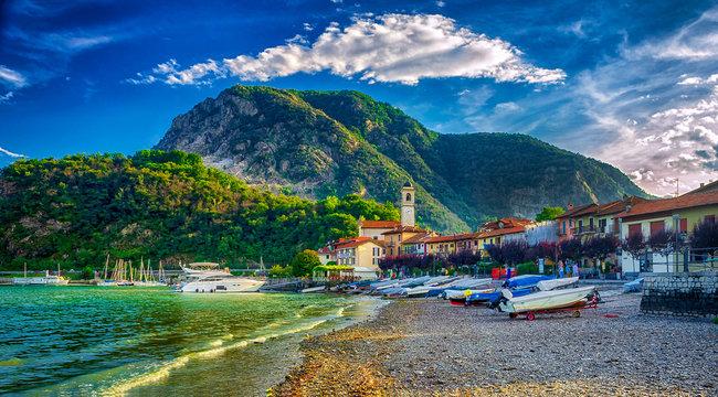 Fischerdorf Feriolo am Lago Maggiore, Piemont, Italien