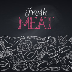 Seamless border gastronomic meat