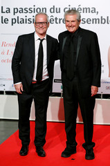 Thierry Fremaux director of the Lumiere Festival and director Claude Lelouch attends the opening of the Lumiere 2018 Grand Lyon Film Festival, in Lyon