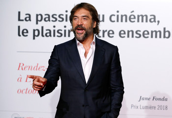 Bardem attends the opening of the Lumiere 2018 Grand Lyon Film Festival in Lyon