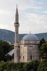 Koski Mehmed pasa Mosque in Mostar, Bosnia and Herzegovina, built in the 17th century,