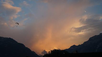 Jungfrau bei Sonnenuntergang, Interlaken, 10092016