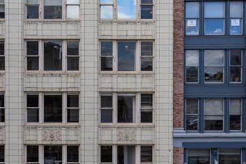 Side of buildings
