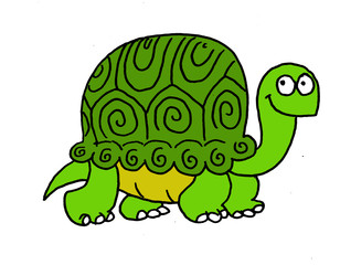 Funny illustration of a turtle