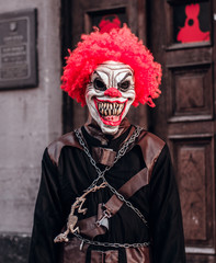 Halloween scary clown costume