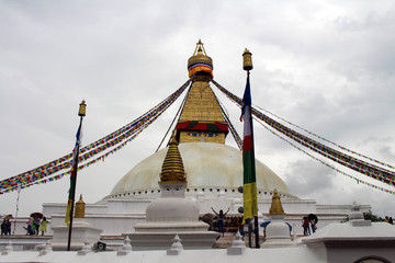 The giant magnificent stupa of Boudhanath in Kathmandu