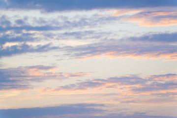 空と雲・背景用素材 10月 夕暮れ トワイライト