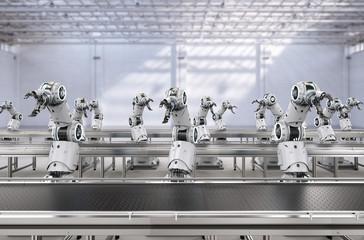 Robot assembly line