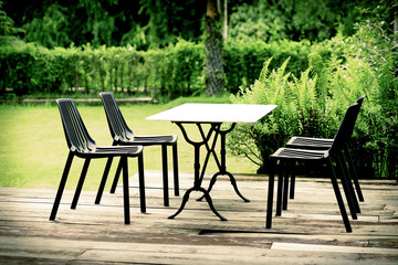 Modern designed outdoor furniture set relax corner table and chairs