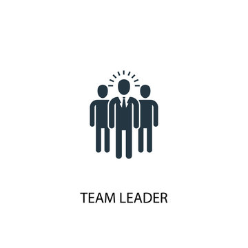 team leader icon. Simple element illustration. team leader concept symbol design. Can be used for web and mobile.