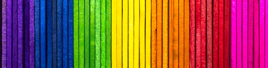 Abstract background for design with colorful wooden planks ( Ice cream stick )