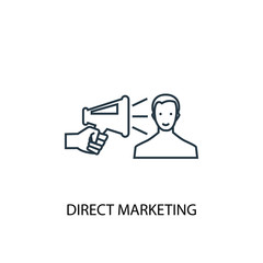 Direct Marketing concept line icon. Simple element illustration. Direct Marketing concept outline symbol design. Can be used for web and mobile UI/UX