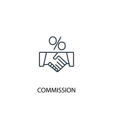 Commission concept line icon. Simple element illustration. Commission concept outline symbol design. Can be used for web and mobile UI/UX