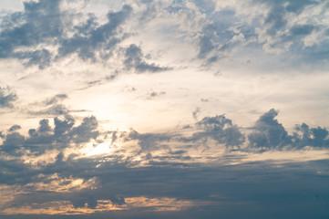 夕日の空のイメージ / 夕焼け