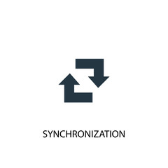 synchronization icon. Simple element illustration. synchronization concept symbol design. Can be used for web and mobile.