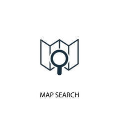 map search icon. Simple element illustration. map search concept symbol design. Can be used for web and mobile.