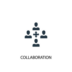 collaboration icon. Simple element illustration. collaboration concept symbol design. Can be used for web and mobile.