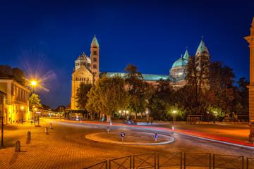 Speyer Dom bei Nacht