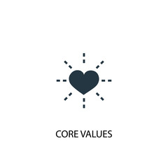 Core values icon. Simple element illustration. Core values concept symbol design. Can be used for web and mobile.