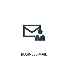 business mail icon. Simple element illustration. business mail concept symbol design. Can be used for web and mobile.