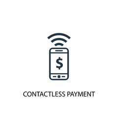 contactless payment icon. Simple element illustration. contactless payment concept symbol design. Can be used for web and mobile.