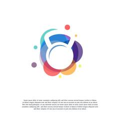 Colorful katlebelt logo vector, Gymnastic logo designs template, design concept, logo, logotype element for template