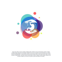 Colorful Stomach Care logo vector, Stomach Health logo designs template, design concept, logo, logotype element for template