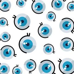 comic eye human pattern background
