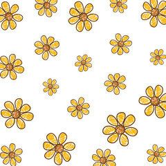 cute flowers drawing pattern