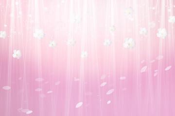 Wall Mural - 桜の背景(ワインレッドと薄いピンクのイメージ)