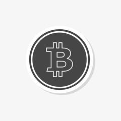 Bitcoin simple sticker, icon or logo