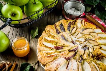 Homemade apple biscuit pie