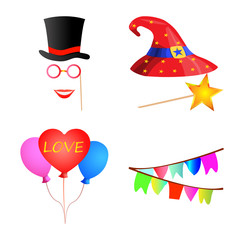 Vector illustration of party and birthday icon. Set of party and celebration stock symbol for web.