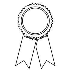 Isolated seal stamp with ribbon design