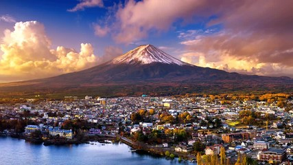 Wall Mural - Sunrise at Fuji mountain, Japan