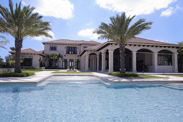 luxury house with a pool