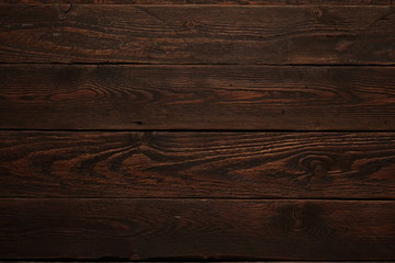 Abstract textured background.  Top view dark wood table