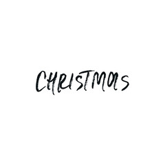 Christmas and New Year phrase. Handwritten modern lettering for cards, posters, t-shirts, etc. Vector illustration